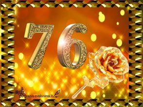76 gimtadienis
