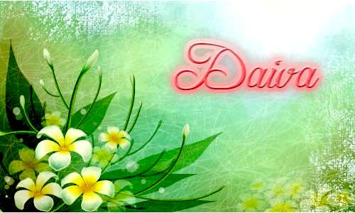 Daiva, su vardadieniu
