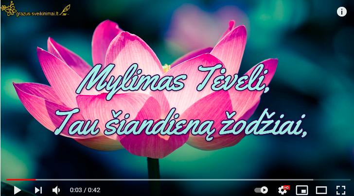 Video sveikinimas su Tėvo diena